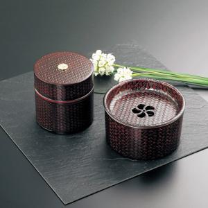 茶筒セット 茶筒・茶こぼしセット 籠目(かごめ) 紙箱入り|syoubidou