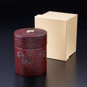 茶筒 鎌倉菊 紙箱入り|syoubidou