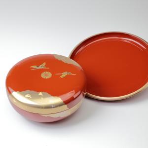 祥鶴 丸盆8寸 菓子器セット 化粧箱入り|syoubidou