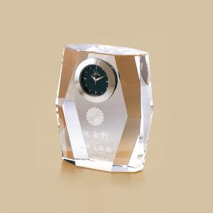 叙勲記念品 叙勲お祝い 「時計付ペーパーウェイト ルナプレシャスNo.1」 叙勲挨拶状付 お祝い品|syoubidou