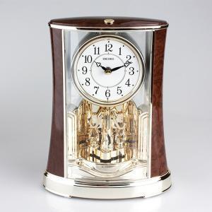 叙勲記念品 叙勲お祝い 「クオーツ置時計 置時計 BY427B SEIKO(セイコー)紙箱入り」 叙勲挨拶状付 お祝い品|syoubidou