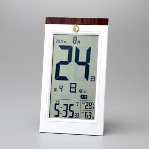 叙勲記念品 叙勲お祝い 「デジタル日めくり電波時計 KW9254」 叙勲挨拶状付 お祝い品|syoubidou