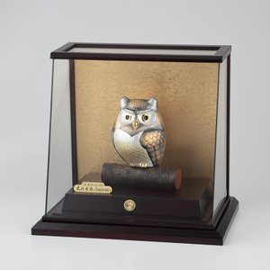 銀製ふくろう スロープケース 2号|syoubidou