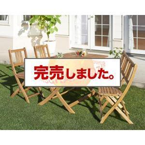 ガーデンテーブルセット アカシア天然木 エフィカ 4点セット(テーブル+チェア2脚+ベンチ1脚) ベンチ3Pタイプ W120|syougarden