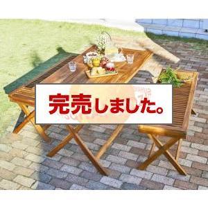 送料無料 チーク天然木 折りたたみ式ベンチタイプガーデンファニチャー ノビリス 3点セット(テーブル+ベンチ2脚) W120|syougarden