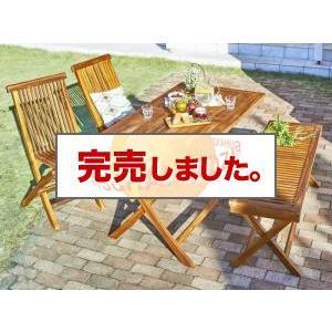 送料無料 チーク天然木 折りたたみ式ベンチタイプガーデンファニチャー ノビリス 4点セット(テーブル+チェア2脚+ベンチ1脚) W120|syougarden