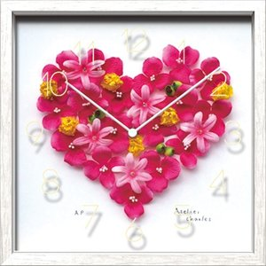 Artist Clock Pink Heart|syoukai-tv