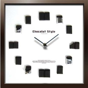 DISPLAY Clock Chocolat Style W320xH320xD55mm 1.1kg|syoukai-tv