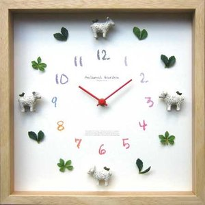 DISPLAY Clock Sheep W320xH320xD55mm 1.1kg|syoukai-tv