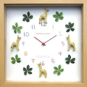 DISPLAY Clock Giraffe W320xH320xD55mm 1.1kg|syoukai-tv