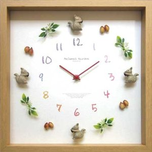 DISPLAY Clock Squirrel 2 W320xH320xD55mm 1.1kg|syoukai-tv