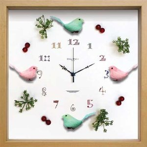 Display Clock Bird/Green &Pink|syoukai-tv