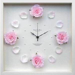 DISPLAY Clock Flower Rose / Pink W320xH320xD55mm 1.1kg|syoukai-tv