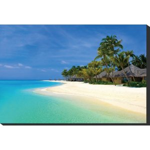 IAP-51268 Art Panel Beach bungalows on a|syoukai-tv