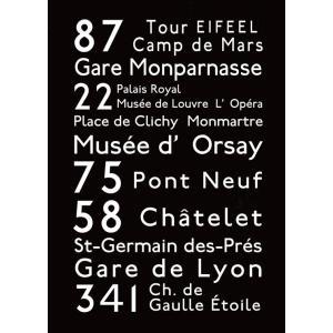 IBR-51711 バスロールサイン バスロールデザインポスター BusRollDesign Poster Paris サイズ:500x700mm|syoukai-tv