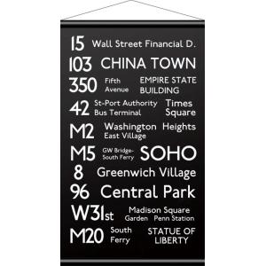 IBR-51749 バスロールデザインタペストリー BusRoll Sign Tape S NEW YORK/サイズ:W430xH745mm|syoukai-tv