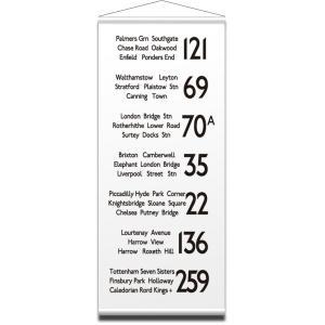 IBR-51750 バスロールデザインタペストリー BusRoll Sign Tape S LONDON 2/サイズ:W430xH1020mm|syoukai-tv