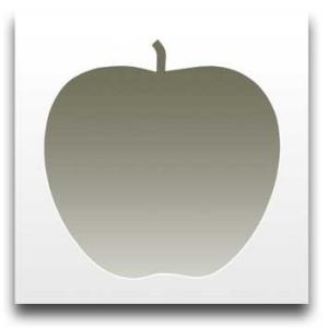 Apple White サイズ W450×H450×D10mm 2.0kg|syoukai-tv