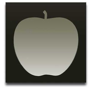Apple Brown サイズ W450×H450×D10mm 2.0kg|syoukai-tv