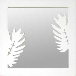 Forme Mirror Kuokaburra White サイズ W450×H450×D10mm 2.0kg|syoukai-tv