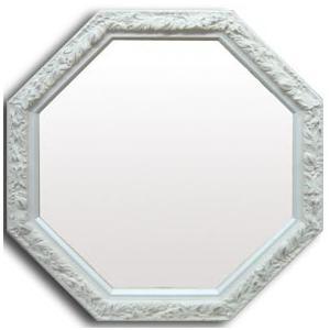 ホワイト・デコ 風水八角ミラー サイズ W480×H480×D20mm 2.3kg|syoukai-tv
