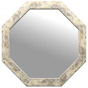風水八角ミラー サイズ W470×H470×D15mm 2.1kg Huit Mirror Ivory|syoukai-tv