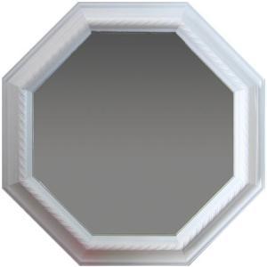 ホワイト 風水八角ミラー サイズ W315×H315×D30mm 0.9kg|syoukai-tv