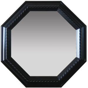 ブラック 風水八角ミラー サイズ W315×H315×D30mm 0.9kg|syoukai-tv
