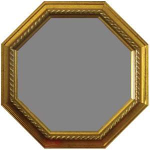 ゴールド 風水八角ミラー サイズ W315×H315×D30mm 0.9kg|syoukai-tv