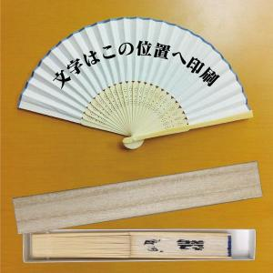 オリジナル文字入り扇子・1行(10文字以下) ギフト箱付き|syoukai-tv