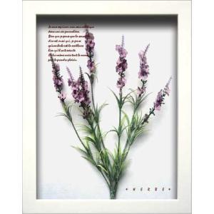Herbe Frame Lavender 2(ハーブフレーム) (ハーブフレーム・精密な人工観葉植物) W310xH385xD20mm 1.3kg|syoukai-tv