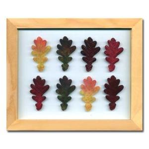 PLANT Frame (プラントフレーム・精密な人工観葉植物)・スタンドタイプ W225×H275×D15mm 0.6kg Oak Leaf|syoukai-tv