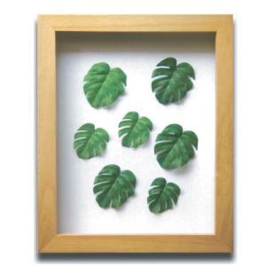 PLANT Frame (プラントフレーム・精密な人工観葉植物)・スタンドタイプ W225×H275×D15mm 0.6kg Monstera mini|syoukai-tv