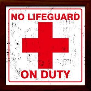 ZSF-52029 SIGN FRAME No Lifeguard|syoukai-tv
