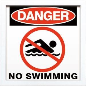 ZSF-52042 SIGN FRAME No Swimming|syoukai-tv