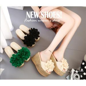 ■商品コード:FNTX001 ■カラー:ブラック、グリーン、ベージュ ■素材: 花:布 アッパー:P...