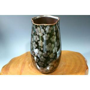 有田焼 藤井朱明作花瓶「天目梅散らし」箱なしで   50%OFFセール中|syozan