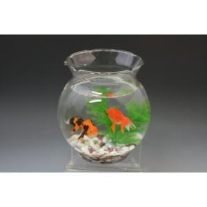 金魚鉢 金魚「ガラス製金魚鉢に金魚セット」|syozan
