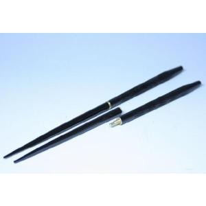 携帯箸つなぎ箸 最高級本漆塗り「ねじり筋彫黒」贈り物に最適です。 定形外郵便で送料無料 代引不可! syozan