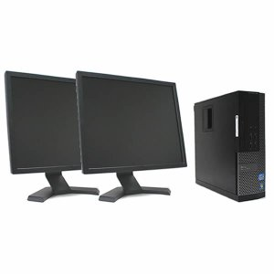 デュアルモニタ仕様 17インチ液晶セット DELL Optiplex 790SF Core i3 3.3GHz 2GB 250GB DVD-ROM DtoDリカバリ領域 Windows7 Professional 32Bit|system0799jp