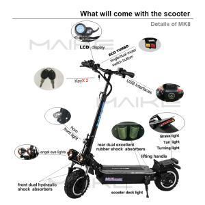 5000W電動スクーター電動キックボード11インチオフロードタイヤサドル付き折りたたみ速度最大85k...