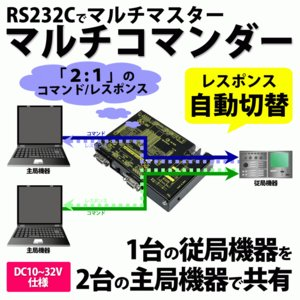 SS-232C-MCMD2-DC RS232C マルチコマンダー (DC10-32V仕様) コマンド/レスポンス自動経路切替器 RS232Cマルチマスター systemsacom