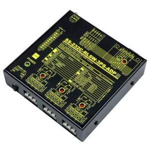 SS-232C-RLSW-3PS-ADP RS232Cリレースイッチユニット[独立3ch](ACアダプタ仕様)|systemsacom