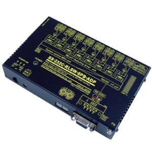 SS-232C-RLSW-8PB-ADP RS232Cリレースイッチユニット[独立8ch]【絶縁】[ブレーク接点X8ch](ACアダプタ仕様)|systemsacom