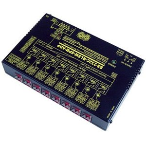 SS-232C-RLSW-8PM-ADP RS232Cリレースイッチユニット[独立8ch]【絶縁】[メイク接点X8ch](ACアダプタ仕様)|systemsacom
