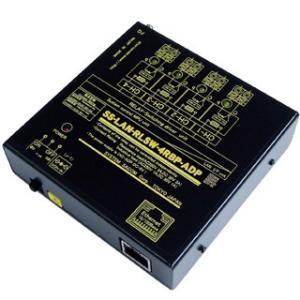 SS-LAN-RLSW-4RBP-ADP LAN(Ethernet)リレースイッチユニット[独立4ch](ACアダプタ仕様)[(B)接点X4ch]|systemsacom