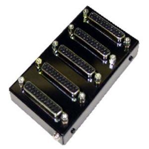 SS-PARA BOX-255 信号分岐用パラレルボックス Dsub25ピン(メス/ミリネジ)X5ケ ケーブル中継|systemsacom