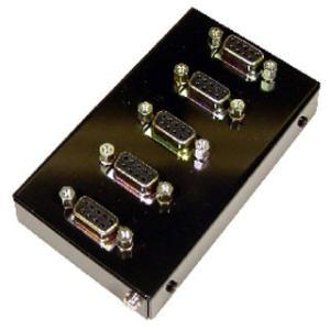 SS-PARA BOX-95 信号分岐用パラレルボックス Dsub9ピン(メス/ミリネジ)X5ケ ケーブル中継|systemsacom