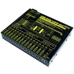 USB-HUB-14PiP-20A 業務用大容量14ポートUSBHUB(LOW/FULL)[絶縁仕様](1ポート当たり1.2A/合計18A)|systemsacom