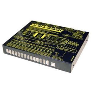 USB-HUB14-1F1P 業務用大容量14ポートUSBHUB(USB2.0)(AC100-240V仕様・アウトレット3個)|systemsacom